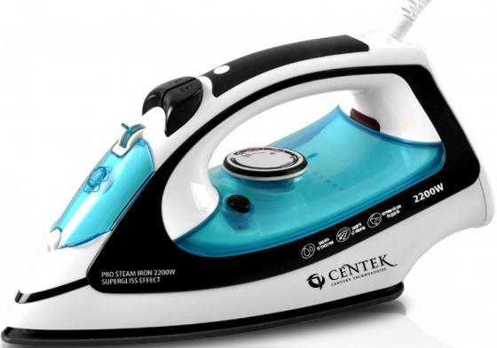 Утюг Centek CT-2339 2200Вт голубой цена и фото