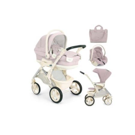 Модульный сет Orso: люлька, прогулочный блок, автокресло-переноска и сумка, цвет 712 розовый, CAM carcam cam 1889p