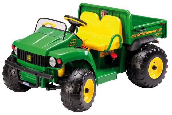 Каталка-машинка Peg Perego JD Gator HPX пластик от 3 лет на колесах зелено-желтый