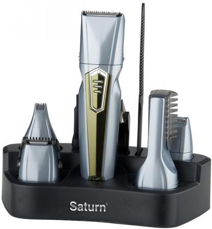 Машинка для стрижки волос Saturn ST-HC 8021 серебристый коричневый цена