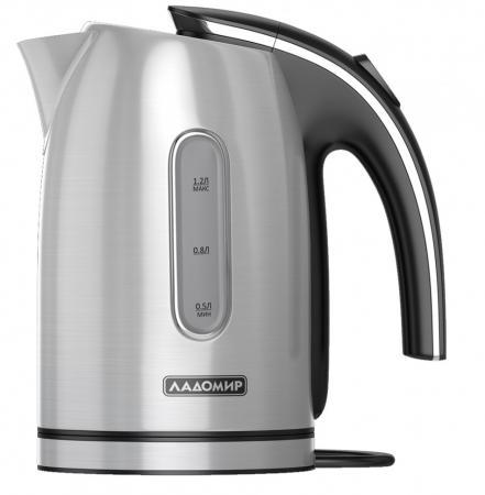 Чайник электрический Ладомир 102 2000 Вт серебристый 1.2 л нержавеющая сталь