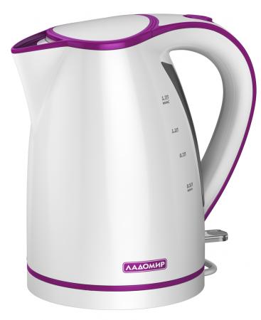 Чайник электрический Ладомир 327 2000 Вт белый фиолетовый 1.7 л пластик