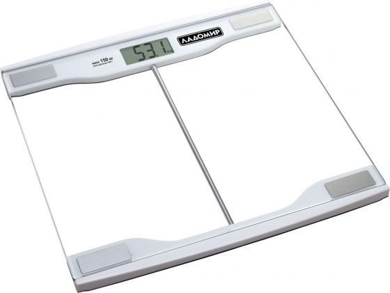 Весы напольные Ладомир НА107 серебристый кухонные весы ладомир на303