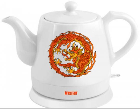 Купить Чайник Mystery MEK-1624, белый, рисунок