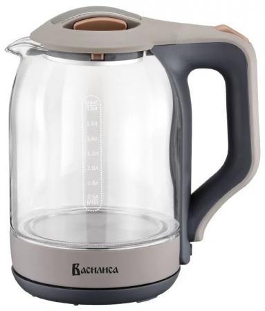 Чайник ВАСИЛИСА ВА-1026 серый чайник василиса ва 1027 beige white