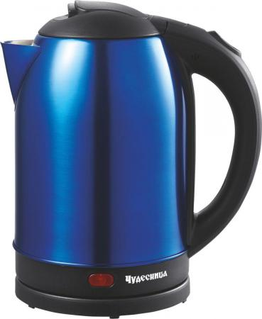 Чайник Чудесница ЭЧ-2025 1800 Вт синий чёрный 2 л металл/пластик цена и фото