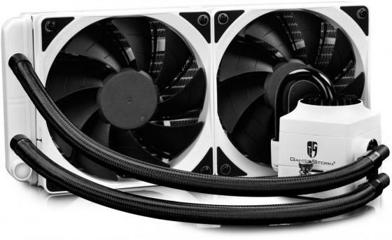 цена на Комплект водяного охлаждения DEEPCOOL CAPTAIN 240 EX RGB WHITE LGA2011/V3/1366/1156/55/51/50/775/FM2/+/FM1/AM3/+/AM2/+/AM4 (8шт/кор,TDP Intel 150W, AMD 140W, RGB Lighting, PWM, DUAL FAN) RET