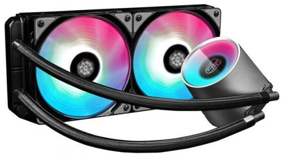 Комплект водяного охлаждения DEEPCOOL CASTLE 240 RGB LGA20XX/LGA1366/LGA115X/TR4/AM4/AM3/+/AM2/+/FM2/+/FM1 (8шт/кор,TDP Intel 150W, RGB Lighting, PWM, DUAL FAN) RET brand new original adda ab07005hx07kb00 dc5v 0 40a qat10 notebook fan
