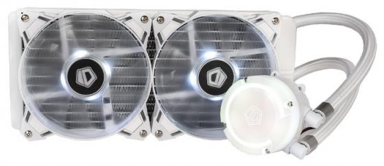 Комплект водяного охлаждения ID-COOLING AURAFLOW 240 SNOW LGA2066/2011/1366/1151/50/55/56/775/AM4/FM2/+/FM1/AM3/+/AM2/+/ (8шт/кор,TDP 200W, RGB FAN and PUMP, PWM, DUAL FAN 120mm, белый) RET cpu laptop cooling fan for fujitsu siemens amilo d1840 d1840w d1845 bi sonic bp541305h cooling fan dv 5v 0 36a round fan