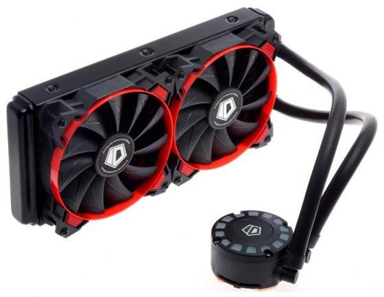 Комплект водяного охлаждения ID-COOLING FROSTFLOW 240L-R LGA2011/1366/1151/50/55/56/775/AM4/FM2/+/FM1/AM3/+/AM2/+/(8шт/кор,TDP 200W, Черно-красный, Помпа с LED подств., PWM, DUAL FAN 120mm) RET thermalright le grand macho rt computer coolers amd intel cpu heatsink radiatorlga 775 2011 1366 am3 am4 fm2 fm1 coolers fan