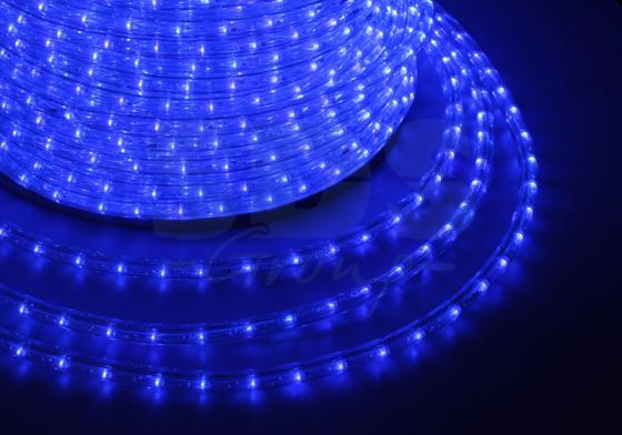 Дюралайт LED, постоянное свечение (2W) - синий, 24 LED/м, O10мм, бухта 100м