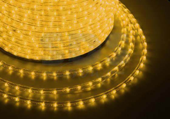 Дюралайт LED, свечение с динамикой (3W) - желтый, 24 LED/м, бухта 100м diy 3w 3000k 315lm warm white light round cob led module 9 11v