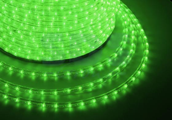 Дюралайт LED, свечение с динамикой (3W) - зеленый, 36 LED/м, бухта 100м diy 3w 3000k 315lm warm white light round cob led module 9 11v