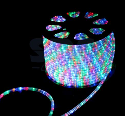 Дюралайт LED, свечение с динамикой (3W) - мульти (RYGB), 30 LED/м, бухта 100м diy 3w 3000k 315lm warm white light round cob led module 9 11v