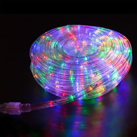 Дюралайт LED, свечение с динамикой (3W), 24 LED/м, МУЛЬТИ (RYGB), 14м diy 3w 3000k 315lm warm white light round cob led module 9 11v