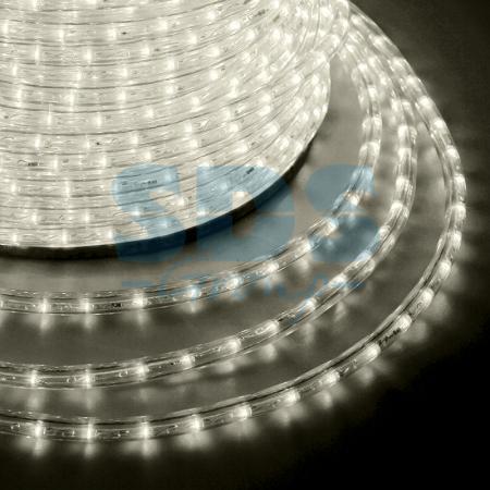 Дюралайт LED, эффект мерцания (2W) - теплый белый Эконом 24 LED/м , бухта 100м