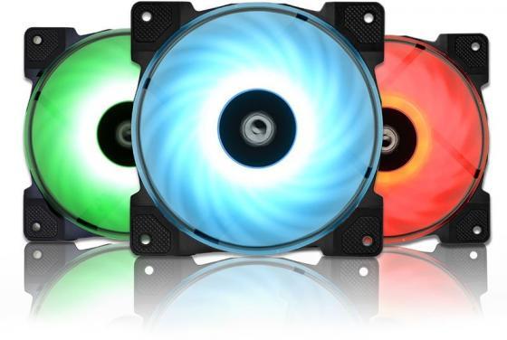 Вентилятор ID-COOLING SF-12025-RGB TRIO (3 in 1) 120x120x25мм (20шт./кор, Пульт управления, PWM, Low Noise, резиновые углы, RGB, 700-1800об/мин) BOX