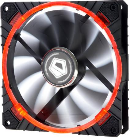Вентилятор ID-COOLING CF-14025-R 140x140x25мм (60шт./кор, PWM, резиновые углы, Red LED Ring, 200-1300об/мин) BOX вентилятор id cooling sf 12025 r 120x120x25мм 80шт кор pwm low noise резиновые углы red led