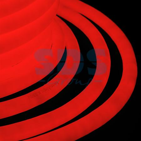 Гибкий Неон LED 360 (круглый) - красный, бухта 50м