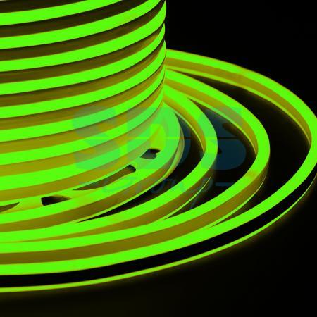 Гибкий Неон LED SMD, компактный 7х12мм, двусторонний, зелёный, 120 LED/м, бухта 100м jrled jr led 5050 smd 14 4w 500lm orange led luminous module white yellow dc 12v