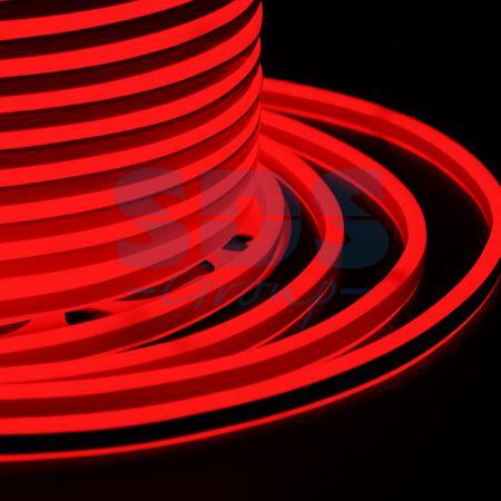 Гибкий Неон LED SMD, компактный 7х12мм, двусторонний, красный, 120 LED/м, бухта 100м неон найт 6x2 м led plrs 75 20 235 165