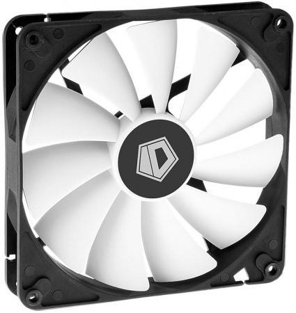 Вентилятор ID-COOLING WF-14025 140x140x25мм (60шт./кор, PWM, White & Black, 800-1600об/мин) BOX вентилятор id cooling no 4010 sd 3pin molex 40 40 10 мм 4500об мин 12vdc