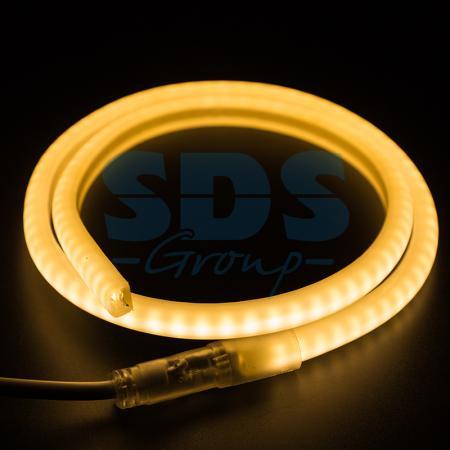 Гибкий Неон LED SMD, форма - D, тёплый белый, 120 LED/м, бухта 100м цена