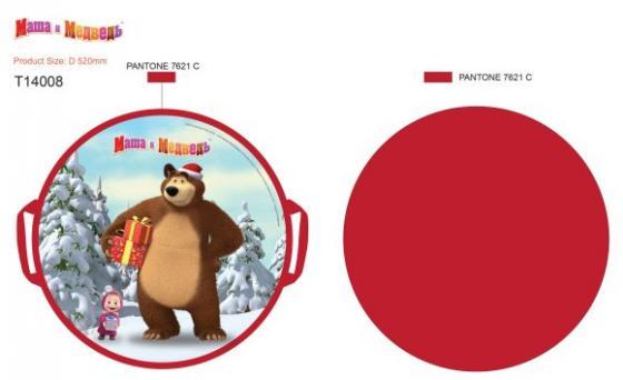 Ледянка Маша и Медведь, круглая, 52 см ледянка мягкая круглая combosport d 40 см чудик на ватрушке
