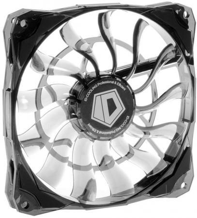 Вентилятор ID-COOLING NO-12015 120x120x15мм (40шт./кор, PWM, Low Noise, супер-тонкий, резиновые углы, черный, 600-1600об/мин) BOX