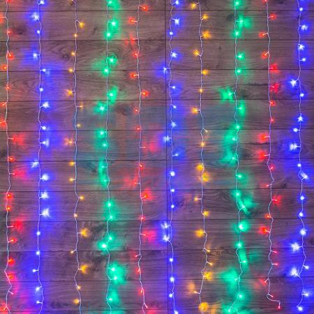 Гирлянда Светодиодный Дождь 1,5х1м, свечение с динамикой, прозрачный провод, 230 В, диоды МУЛЬТИКОЛОР анищенко в с знакомство с нелинейной динамикой