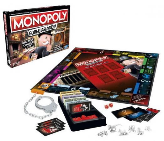 Настольная игра ходилка HASBRO Монополия Большая афёра настольная игра hasbro hasbro настольная игра монополия миллионер