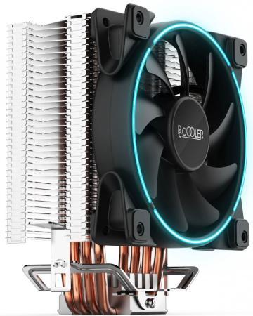 Кулер PCCooler GI-X4 S775/115X/AM2/AM3/AM4 (24 шт/кор, TDP 145W, вент-р 120мм с PWM, Blue LED FAN, 4 тепловые трубки 6мм, синяя LED подсветка, 1000-1800RPM, 26.5dBa) 8cm fan 4 heatpipe for nvidia ati graphics cooler gpu graphics fan gpu radiator pccooler k80d