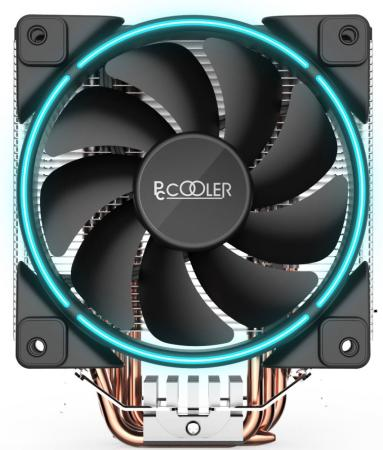 Кулер PCCooler GI-X5B S775/115X/AM2/AM3/AM4 (24 шт/кор, TDP 160W, вент-р 120мм с PWM, Blue LED FAN, 5 тепловых трубок 6мм, 1000-1800RPM, 26.5dBa) thermalright le grand macho rt computer coolers amd intel cpu heatsink radiatorlga 775 2011 1366 am3 am4 fm2 fm1 coolers fan