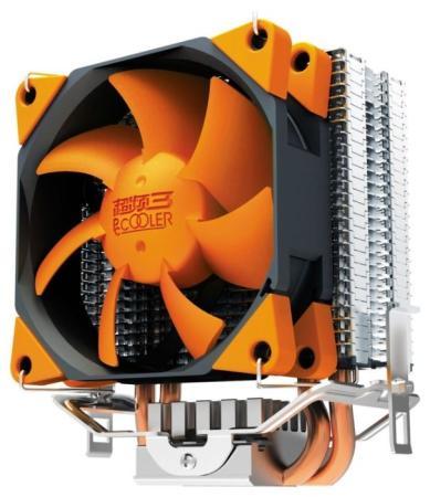 Кулер PCCooler S88 S775/115X/AM2/AM3/AM4/FM1/FM2 (48 шт/кор, TDP 98W, вент-р 80мм с PWM, 2 тепловые трубки 6мм, 1200-2000RPM, 20.5dBa) Retail Color Box