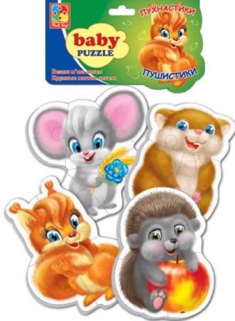 Мягкий пазл 16 элементов Vladi toys Пушистики мягкий пазл vladi toys животные 16 элементов