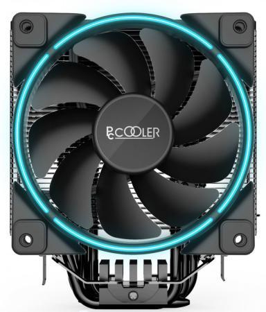 Кулер PCCooler GI-X6B S775/115X/AM2/AM3/AM4 (24 шт/кор, TDP 160W, вент-р 120мм с PWM, Blue LED FAN, 5 тепловых трубок 6мм, 1000-1800RPM, 26.5dBa) thermalright le grand macho rt computer coolers amd intel cpu heatsink radiatorlga 775 2011 1366 am3 am4 fm2 fm1 coolers fan
