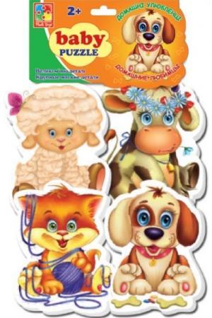 Мягкий пазл 16 элементов Vladi toys Домашние любимцы пазлы vladi toys магнитные беби пазлы домашние любимцы
