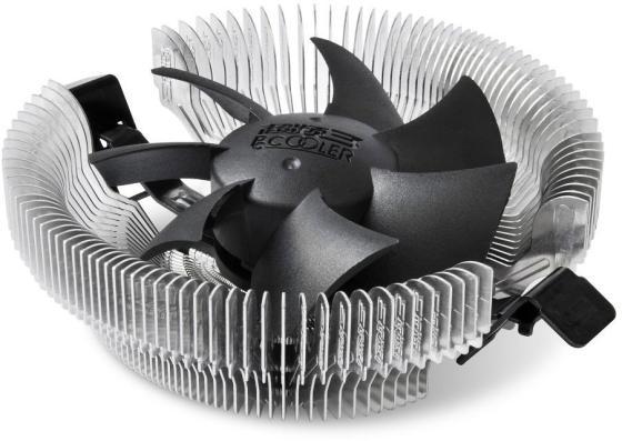 Кулер PCCooler E80 S775/115X/AM2/2+/AM3/3+/AM4/FM1/FM2/754/939/940 (72 шт/кор, TDP 65W, вент-р 80мм, 2200RPM, 22dBa) Retail Color Box thermalright le grand macho rt computer coolers amd intel cpu heatsink radiatorlga 775 2011 1366 am3 am4 fm2 fm1 coolers fan