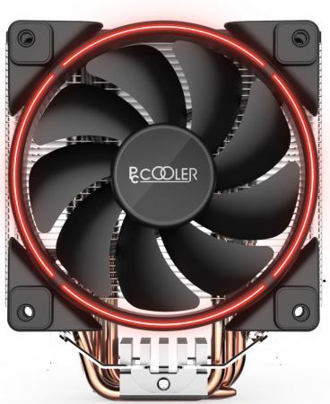 Кулер PCCooler GI-X5R S775/115X/AM2/AM3/AM4 (24 шт/кор, TDP 160W, вент-р 120мм с PWM, Red LED FAN, 5 тепловых трубок 6мм, 1000-1800RPM, 26.5dBa) pccooler v2 cpu cooling fan