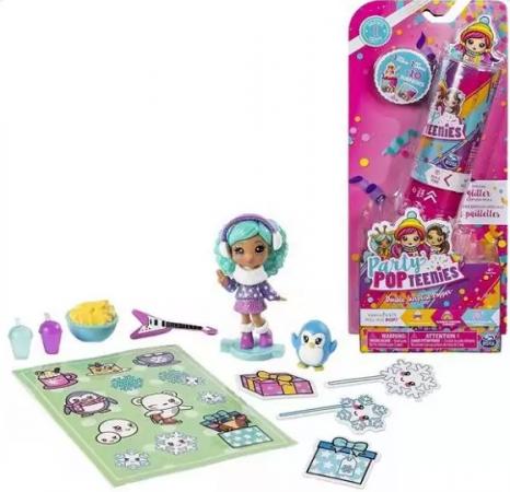 Party Popteenies Хлопушка с сюрпризом (2 куклы+аксессуары), в асс-те игровой набор с куклой party popteenies хлопушка с сюрпризом