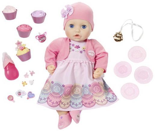 Кукла ZAPF Creation Baby Annabell 43 см пьющая писающая zapf creation комбинезончик baby annabell