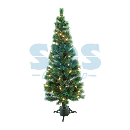 Новогодняя Ель с шишками 210 см фибро-оптика Теплый белый цвет ель новогодняя crystal trees 1 2 м триумфальная с шишками kp8612