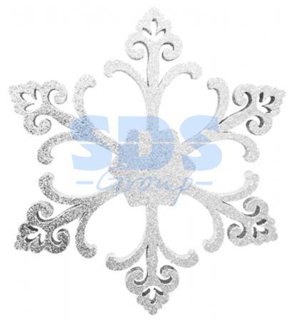 Елочная фигура Снежинка Морозко, 66 см, цвет белый