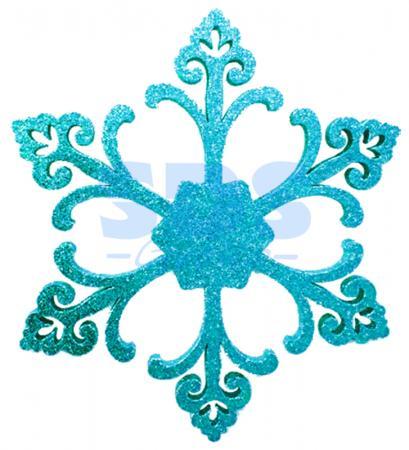 Елочная фигура Снежинка Морозко, 66 см, цвет синий