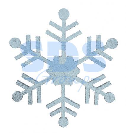 """Елочная фигура """"Снежинка классическая"""", 66 см, цвет серебряный елочная фигура quot шар вихрь quot 20 см цвет серебряный"""