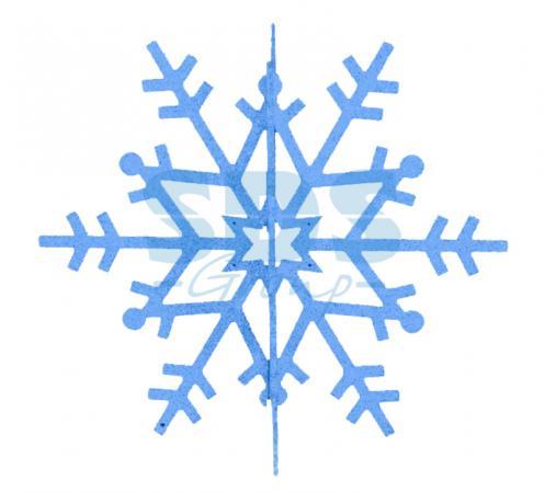 Елочная фигура Снежинка резная 3D, 31 см, цвет синий