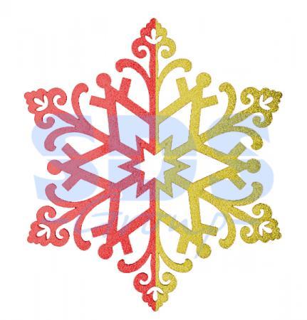 Елочная фигура Снежинка сказочная 40 см, цвет красный/золотой [genuine] freesat v8 super