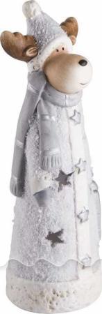 Керамическая фигурка Олененок с шарфом 7*6,5*21 см