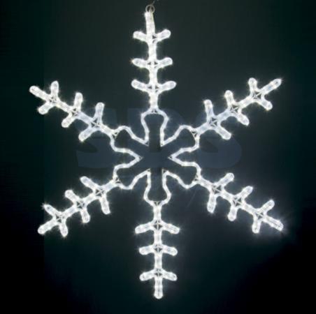 Фигура световая Большая Снежинка цвет белый, размер 95*95 см NEON-NIGHT 95