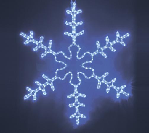 Фигура световая Большая Снежинка цвет синий, размер 95*95 см NEON-NIGHT 95